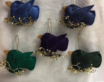 Felt Bird Ornaments - Choice (#001 - #005)