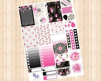 Pink Rose Weekly Kit // Happy Planner // Erin Condren // Personal