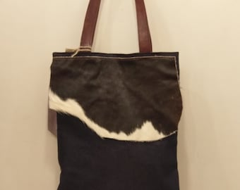 Bag of leather, cowboy and kilim