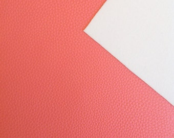 Coral - A4 Faux Leather Sheet
