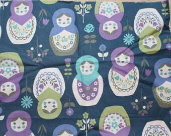 Fabric remnant - russian nesting dolls - KOKKA