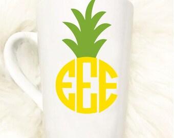 Custom Pineapple Mug//Sorority//Gift