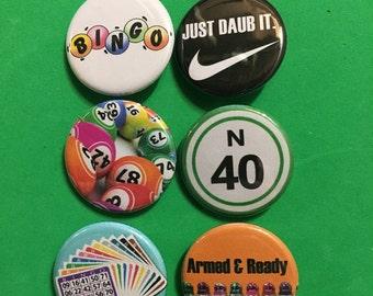Bingo Pin Pack: Bingo Cards, Daubers, Bingo Balls, Gamble, Game, Casino