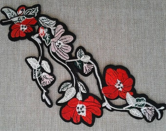 Iron on floral patch applique