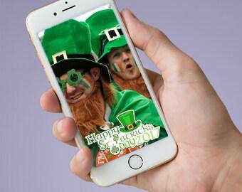 Instant Download St Patrick's Day Snapchat Geofilter, Patricks Snapchat Filter, St Patricks Geofilter, Leprechaun Geofilter, Green Filter