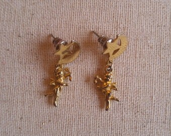 Gold Plated Cupid Earrings