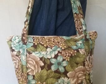 Brown Floral Purse