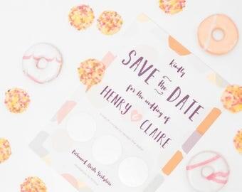Scratch Off Pastel Confetti Dots Save the Date Invitation Gold/Silver ~ SAMPLE