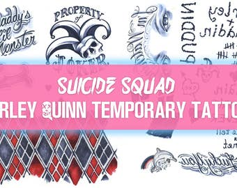 Suicide Squad Harley Quinn Temporary Tattoo Sets