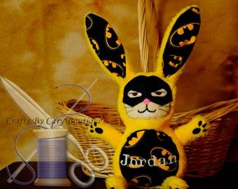 Batman Inspired Stuffed Bunny Rabbit
