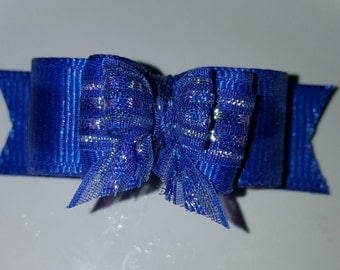 5/8 full size Blue Top knot dog bow!