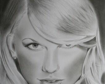Taylor Swift Original Fine Art Drawing by Artist