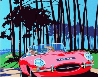 Jaguar E Type 1961 Classic car print