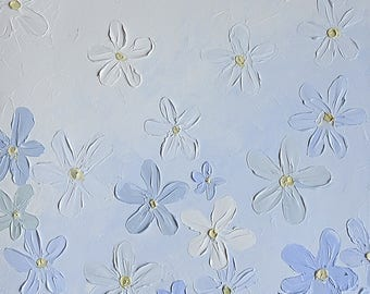 "Flowers 39'x19"" Original Oil Painting On Canvas"