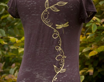 T-Shirt | Golden dragonfly