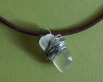 Stone Necklace Lake Glass