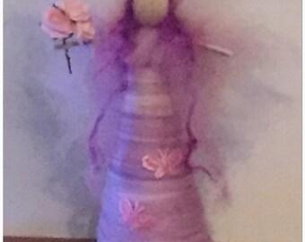 Aurora Needle Felt Standing Fairy. Waldorf inspired