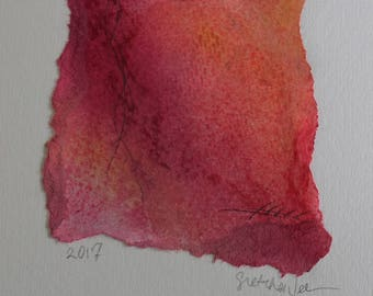 """Inspired by Sunrise - Abstract Pastel Drawing 8x10"""" ready to frame"""