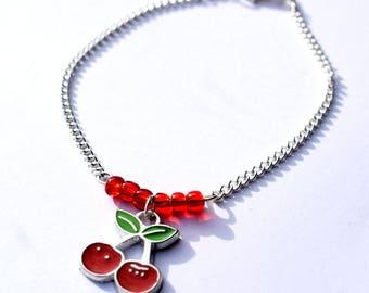 Rockabilly Kitsch Cherry Bracelet Retro 1950s