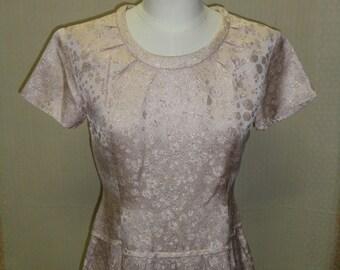 dress retro vintage 1960s Brocade Golden son