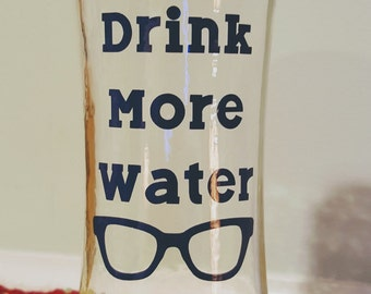 Drink More Water Bottle Decal