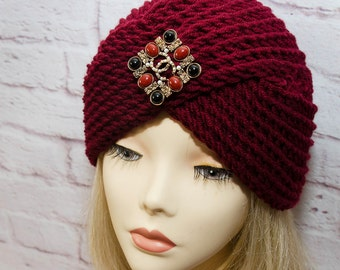 "Hat turban ""Marsala"""