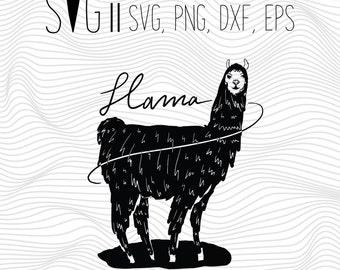 Llama Svg File, Alpaca svg, Svg For Silhouette, Svg For Cricut, Svg for Tshirt, Svg for mug, Llama Clipart File svg for clothing transfer