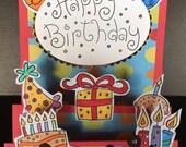 Handmade Birthday Card, Birthday Card, Celebrate Card, Happy Birthday Card, Happy Card