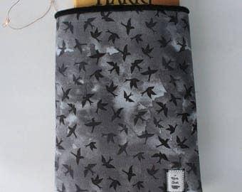 LG Dark Birds Book/ Tablet/ Ereader Sleeve Book Cloak