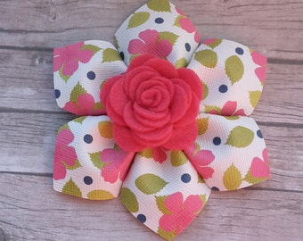 flower shaped hairclip