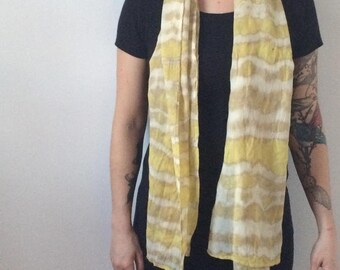 Naturally dyed yellow scarf