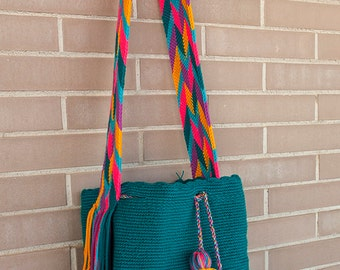 Ethnic woven bag with cotton yarn