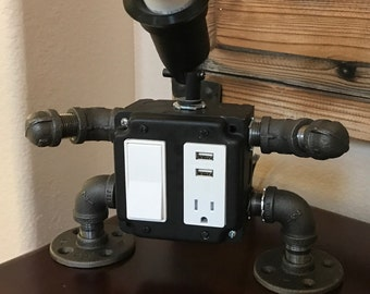Industrial Lamp & Charging Station