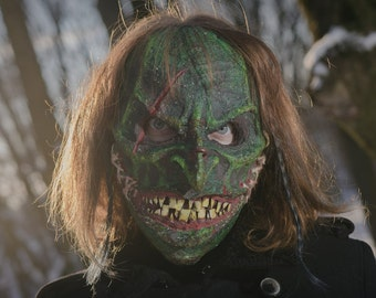 Helloween horror Mask green goblin Mask scary mask Cosplay Mask festival Mask