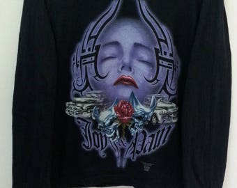 Vintage ROLLIN HARD//Beautiful Printing//Longsleeve// Size M//Anvil Tag//Made In USA//Hip hop swag