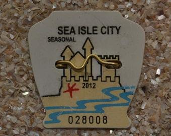 """2012 Canvas Print 14""""x14"""" Sea Isle City Beach Tag"""