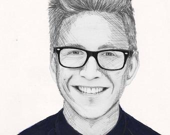 Tyler Oakley Realism Drawing
