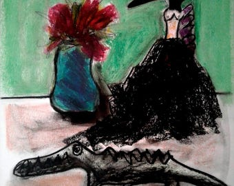 Queen Crow with Black Ball Gown; (Crow series)