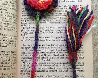 Flower Crochet Bookmark