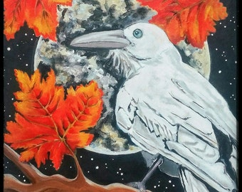 The White Raven, blank greeting card