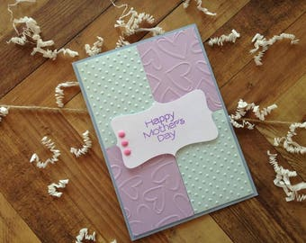Nice Handmade Mother's Day Card, pretty mother's day card, pastel card, happy mother's day, card for mom, cards for mom, cards for her