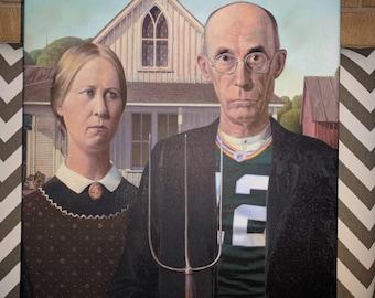 American Gothic: Titletown   Art Canvas Print