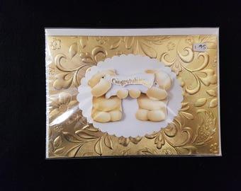 Handmade Forever Friends Decoupage Congratulations card
