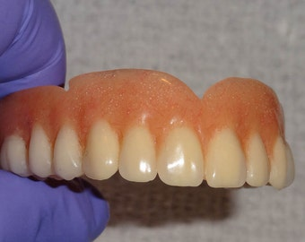 FULL UPPER DENTURE..Real False Teeth