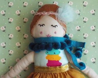 Fabric doll, Rag doll, Cloth doll, Ice cream doll, Gatsby doll