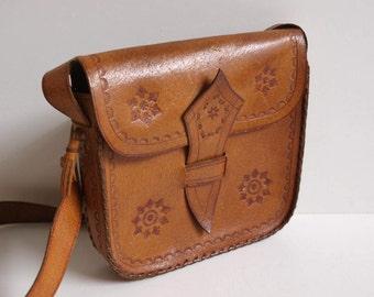 small handbag leather 70s bag shoulder bag vintage