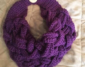 Braided Crochet Cowl