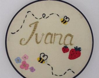 Baby Name Custom Embroidery