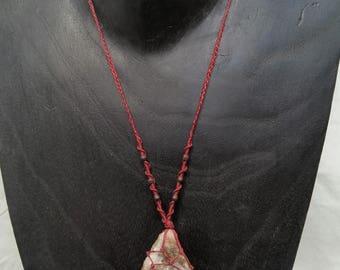 Raw Smokey Quartz Macrame Necklace