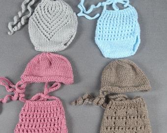 Newborn  Romper with hat , Newborn Photo Prop,Knitted newborn outfit, onesie,